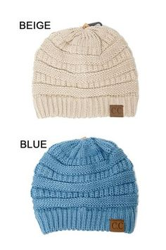 THICK SLOUCHY KNIT BEANIE - VARIETY