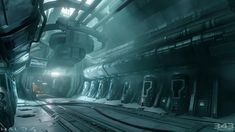 Forward Unto Dawn Cryo Room (Halo 4), Paul Pepera on ArtStation at http://www.artstation.com/artwork/forward-unto-dawn-cryo-room-halo-4