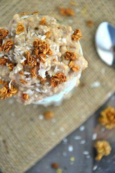 Carrot Cake Oatmeal Parfait   BakeryonMain   #glutenfree #parfait #summer #carrotcake #healthy #recipe