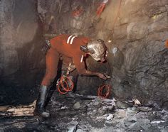 Priming explosives in the ore face, underground at Elura Mine, #Cobar #NSW, circa 1988 #FlashbackFriday #safety #mine