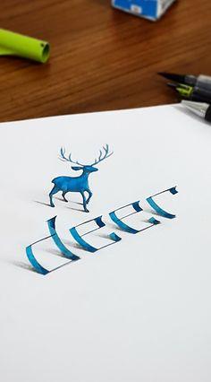 Calligraphy 3d by Tolga Girgin