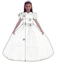Patrones de vestidos de primera comunion