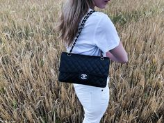 From last weekend at the countryside, taking a nice stroll at one of the nearby towns. I am wearing a white o white outfit with black accents and flats instead of sandals due to the rain. Black Accents, White Outfits, The Row, Chanel, Take That, Shoulder Bag, Jeans, T Shirt, How To Wear