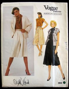Vogue American Designer Edith Head Size 12 Vintage Sewing Pattern 2905 Uncut #Vogue #SewingPattern