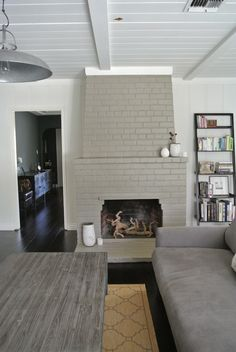 My #westelm fireplace makeover... see the before and after here: http://theeffortlesschic.com/2012/the-home/fireplace-before-after/