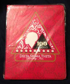 One of my purchases....... Delta Sigma Theta iPad cover/hardback case  #DC
