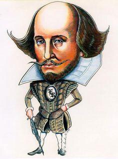 Shakespeare caricature
