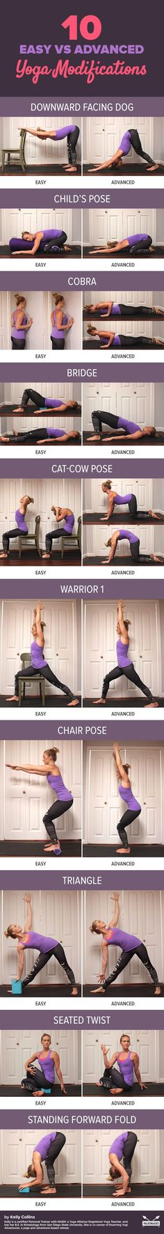 Yoga is all about adaptation. If you're having trouble getting into poses, here are a few tricks you can use to modify yoga poses to fit your comfort level. Get all yoga poses here: http://paleo.co/easyyogamodifications