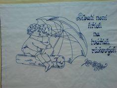 Vyšívaná kuchařka Ručně vyšívané bavlněné bílé plátno, rozměr cca 80x60 cm. Možnost po domluvě zhotovit v jiné barvě vyšívky, případně i plátna s dodáním nejpozději do dvou týdnů. European Countries, Czech Republic, Embroidery Patterns, Punch, Ideas, Needlepoint, Needlepoint Patterns, Bohemia, Punch Needle Patterns