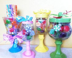 Candyland Candy Jars / Apothecary Jars  Set of 4 by GiftsbyGaby
