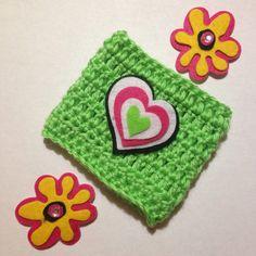 Heart & Flower Cozy by AllisonsWonderlandCo on Etsy