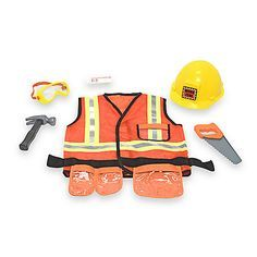 Caution: work zone ahead! Your little construction worker will be ready for the job with this bright orange, machine-washable vest highlighted with reflective material.