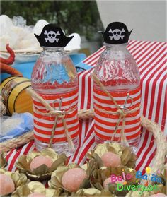 Sea water isnt fer drinkin! Make your bottles pirate worthy!