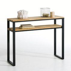 Compre Consola, carvalho maciço malhetado e aço acier, Hiba Mesas, cadeiras na La Redoute. O melhor da moda online.