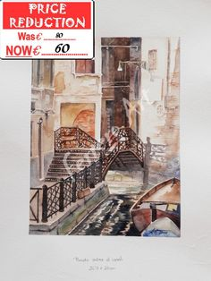 ORIGINAL and SIGNED WATERCOLOR, with certificate of authenticity.
