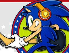 Sonic with a guitar, I bet he plays pretty well
