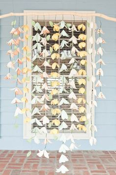 Занавески из бумаги / Праздничный декор / Своими руками - выкройки, переделка одежды, декор интерьера своими руками - от ВТОРАЯ УЛИЦА
