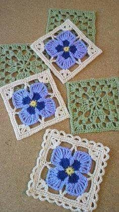 Transcendent Crochet a Solid Granny Square Ideas. Wonderful Crochet a Solid Granny Square Ideas That You Would Love. Motifs Granny Square, Granny Square Crochet Pattern, Crochet Blocks, Crochet Stitches Patterns, Crochet Squares, Crochet Motif, Knitting Patterns, Flower Granny Square, Afghan Patterns