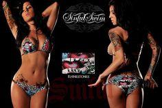 Best Replica Cheap Fashion Sinful Rhinestones True Love Heart Swimwear Swimsuit Hot Bikinis On Sale WASIBI001 [$22.00]