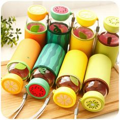 Fruit Accent Water Bottle - Momoi | YESSTYLE