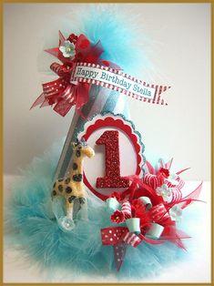 Carnaval vintage 1 sombrero de cumpleaños por PatriciaMinishDesign