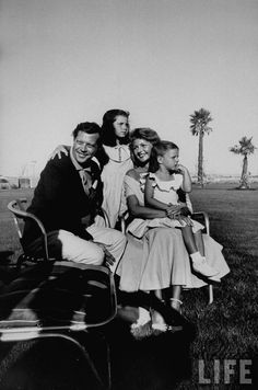 Rita Hayworth with fourth husband Dick Haymes (shown here with her daughters, Rebecca Wells and Yasmin Khan)