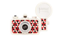 """Lomography """"La Sardina"""" Cubic Camera, with wide-angle lens and """"Fritz the Blitz"""" flash attachment Holiday Packing Lists, Polaroid, Photo Deco, The Blitz, Multiple Exposure, Flash, Deco Design, California Homes, Nordic Design"""