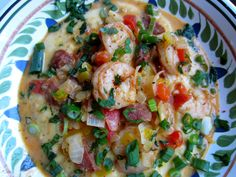 Shrimp and Grits with Andouille Sausage | Seasoned to Taste
