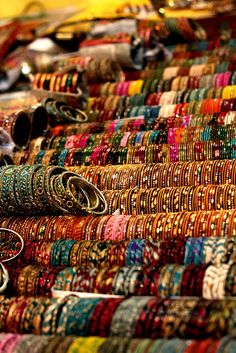 Just like shoes, a girl can never have too many bangles :)