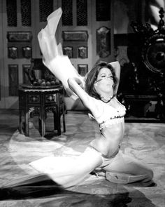Mrs Peel belly dances for a visiting Middle Eastern prince