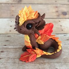 autumn dragon by Dragons&Beasties