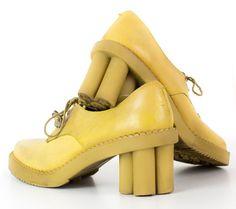 1970s Leather Avant Garde Daisy Shoe