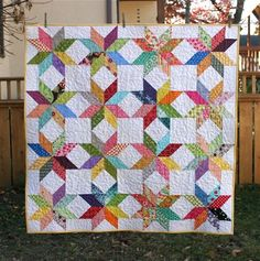 All you need are half square triangles and a design board and scraps..
