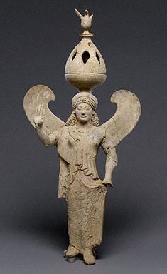 Incense burner supported by Nike (WInged Goddess of Victory)  Greek, 500 B.C.The J. Paul Getty Museum