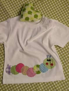 Cute caterpillar applique~~CAMISETA CON GUSANILLO FELIZ | Flickr - Photo Sharing!