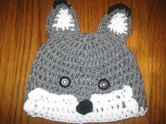 little gray fox crochet hat