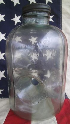 VINTAGE 1950'S CAMP GLASS MINNOW TRAP 3-HOLE CHECOTAH OKLAHOMA FISHING GEAR JAR eBay Image Hosting at www.auctiva.com