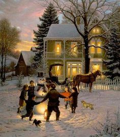 painting christmas scenes christmas pictures winter christmas christmas holidays xmas country - Christmas In The Country Erie Pa
