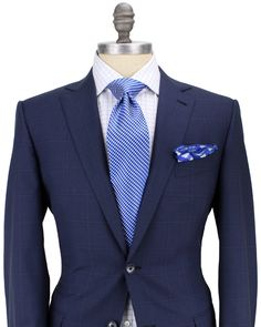 Ermenegildo Zegna Blue with Blue Windowpane Suit
