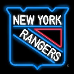 Neon Sign - New York Rangers