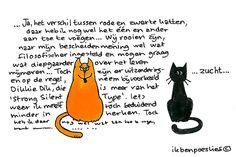 Ik ben Poeslief: Over het schijnbare verschil tussen rode en zwarte katten...