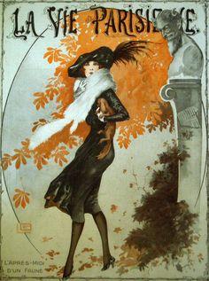 The Autumn Fawn, La Vie Parisienne Oct. 1919 https://es.pinterest.com/annygl/vent-et-pluie/