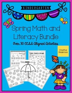Kindergarten Spring Math and Literacy Bundle by Creative Kinderoos | Teachers Pay Teachers