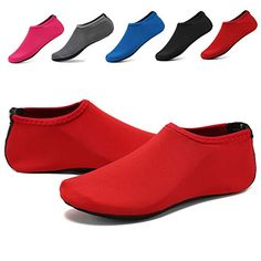 WQINSHOE Unisex Barefoot Water Skin Shoes Aqua Socks Anti-Slip Durable Sole Shoes for Aerobics Exercise Beach Swim Yoga-RED L*** You can find more details by visiting the image link. (This is an affiliate link) Spiderman Costume, Aqua Socks, W 6, Fall Shoes, Water Shoes, Barefoot, Wedge Shoes, Water Aerobics, Heeled Mules