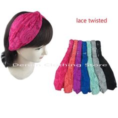 6 pieces LaceTurban Twist Knot Head Wrap Headband Twisted Knotted Hair Net Lot