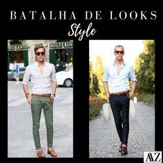 BATALHA DE LOOKS  CALÇA VERDE X CALÇA AZUL MARINHO Looks Style, Capri Pants, Suits, Photo And Video, Videos, Instagram, Fashion, Battle, Style