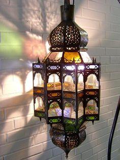Orientalische Lampe ZicZac Bunt90