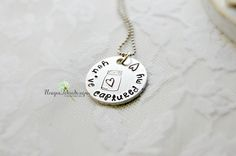 Valentine's Day Gift/ MASON Jar Necklace/ Jar of Hearts/ Valentine's Day Gift/ Jar Necklace/ Hand Stamped Jewelry/ Gift for Her/ Valentine's by Unique2chicdesigns on Etsy
