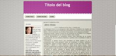 Grafica Web: TEMPLATE BLOGGER: IL MIO MONDO IN LILLA
