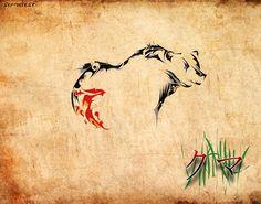 bear tattoo style, var.1 by ser-veresk.deviantart.com on @deviantART